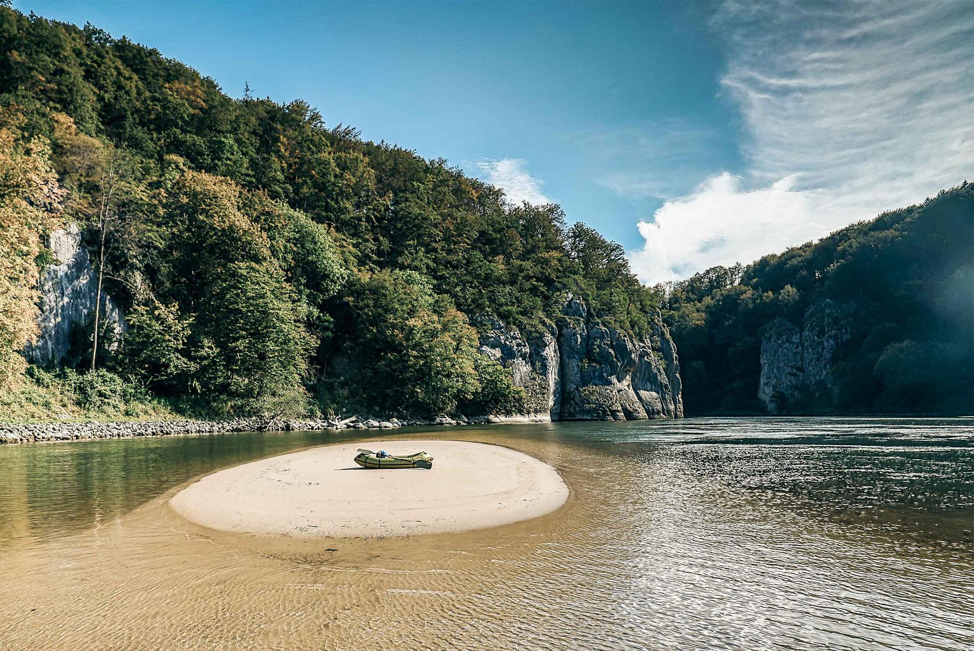 Sandinsel Donaudurchbruch