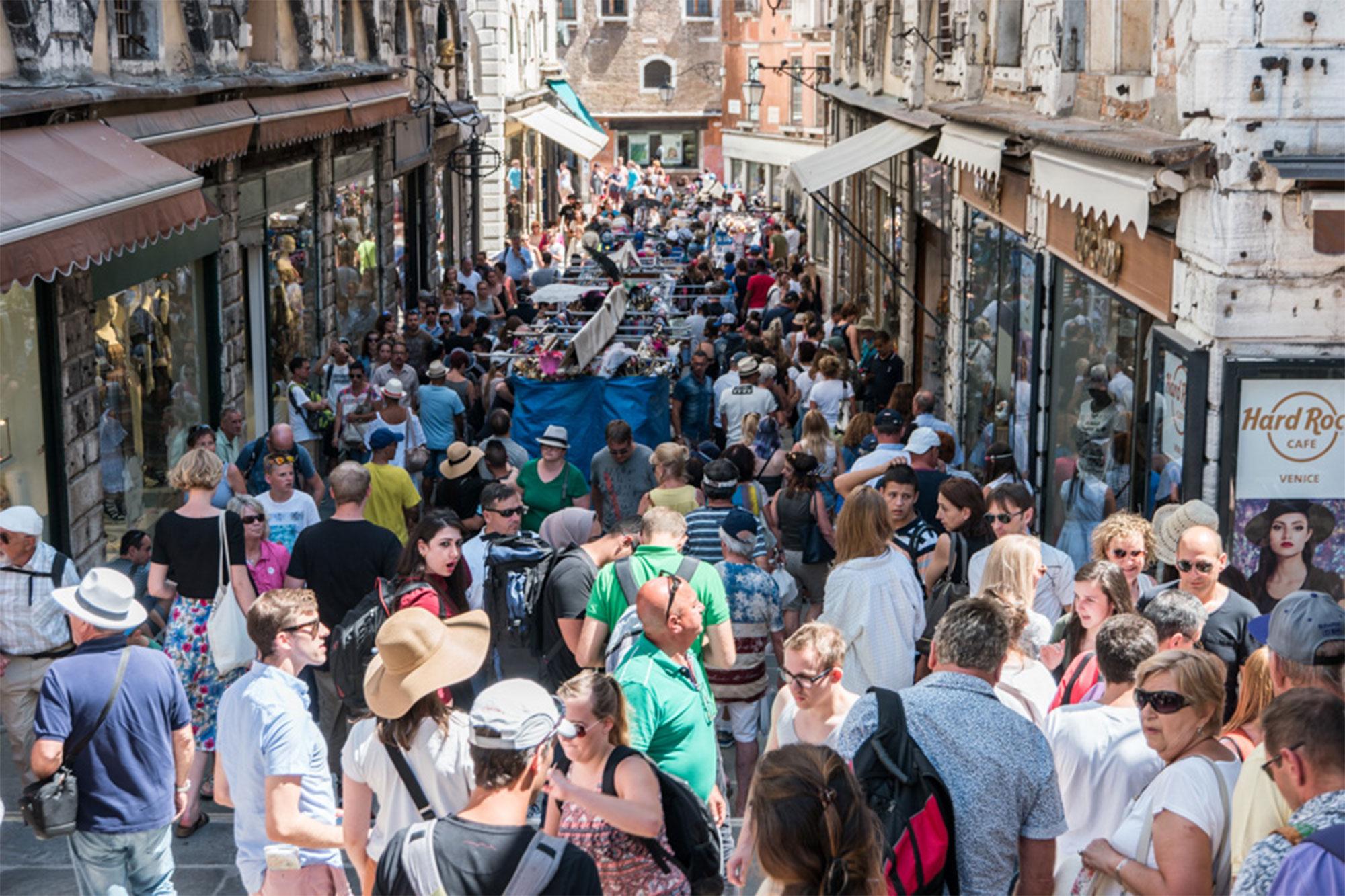 Eindrücke vom Massentourismus in Venedig
