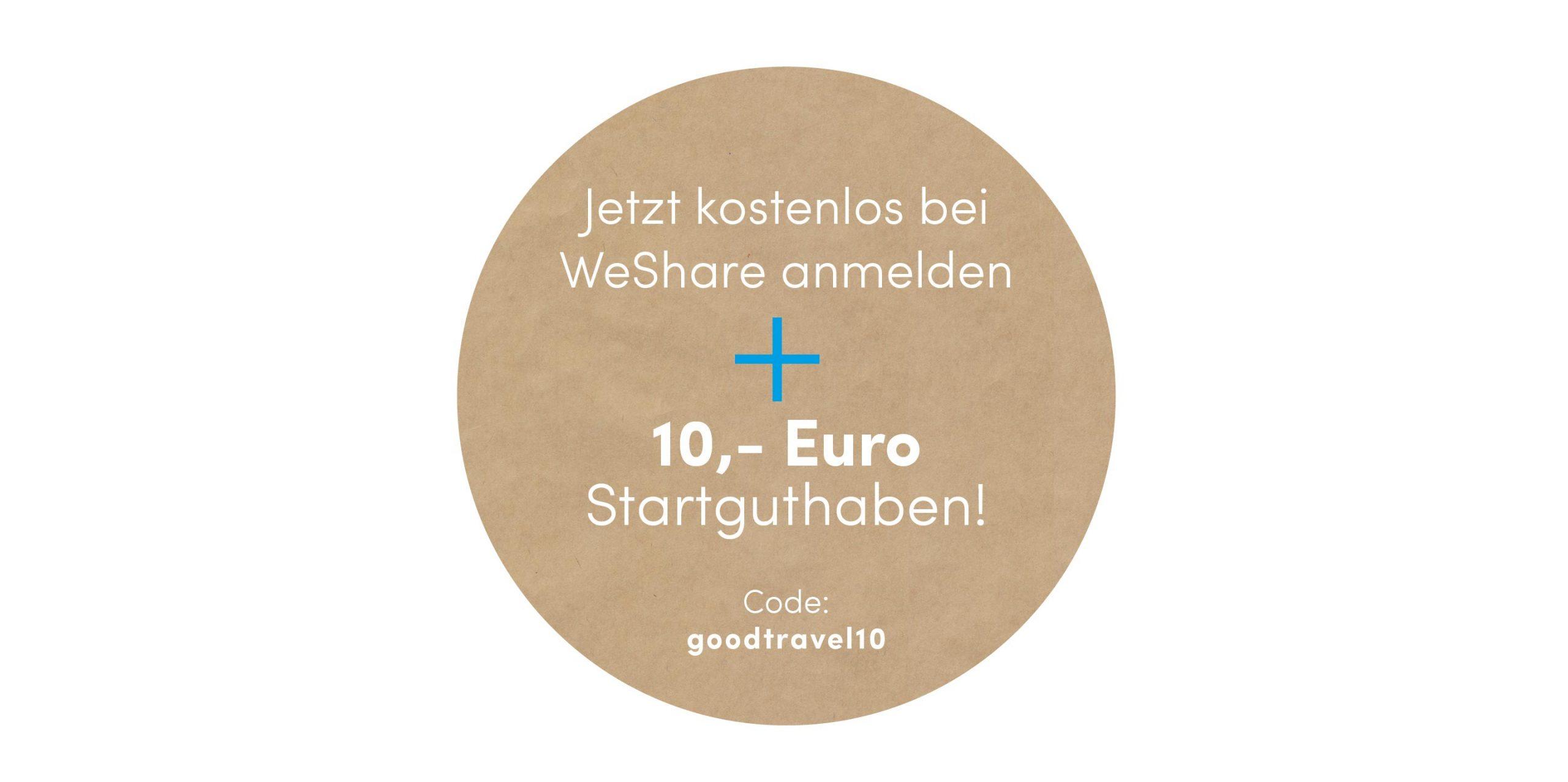 Mit Good Travel 10,- Euro Startguthaben für jede Neuregistrierung sichern
