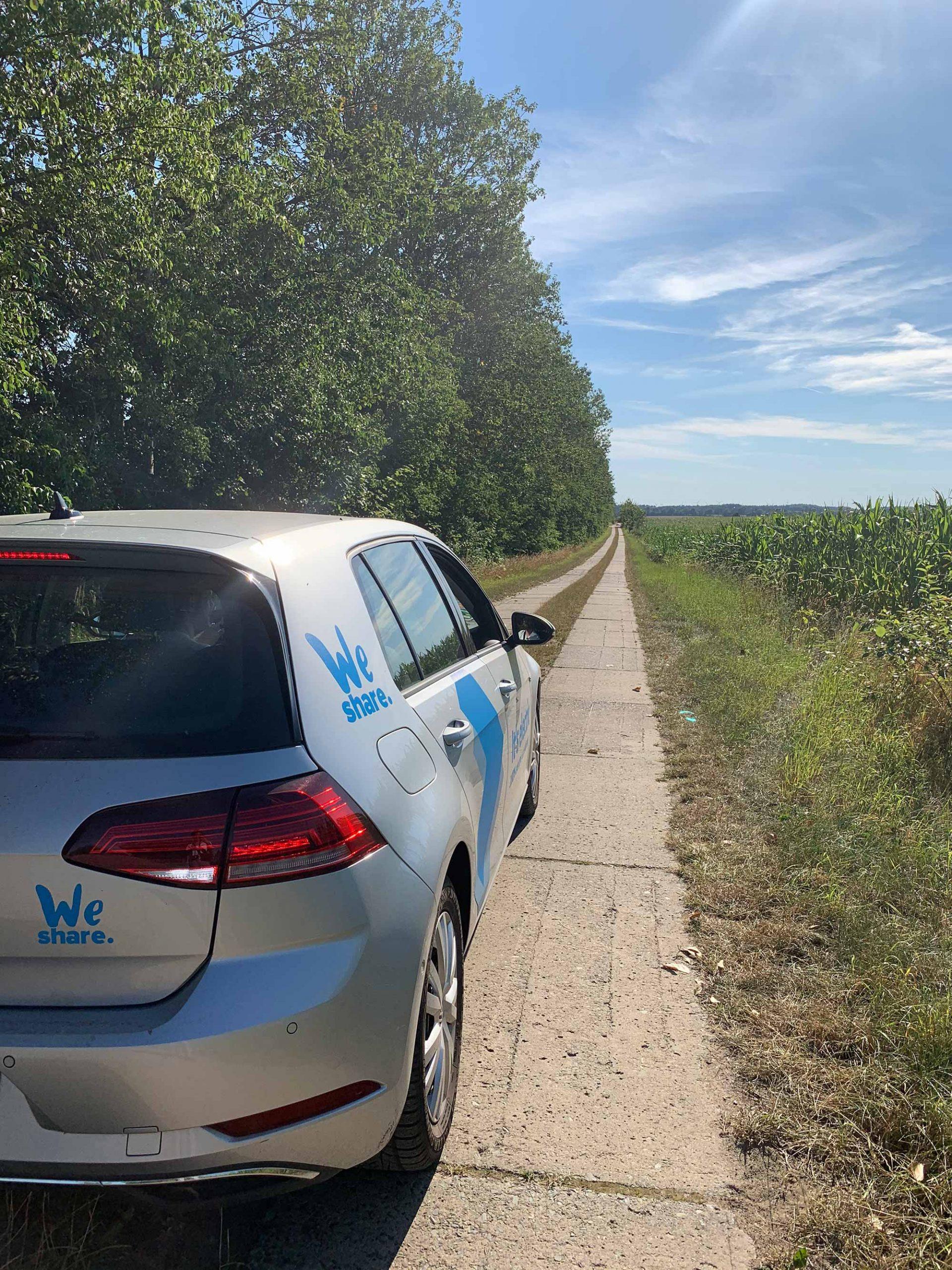 Mit WeShare zum Coworking ins grüne Brandenburg fahren