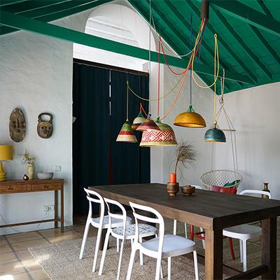 Der grüne Salon in der Finca Mimosa