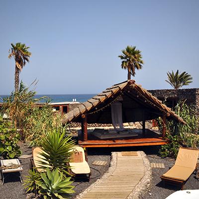 Die Finca de Arrieta bietet eine Vielfalt an gemütlichen Sonnenplätzen