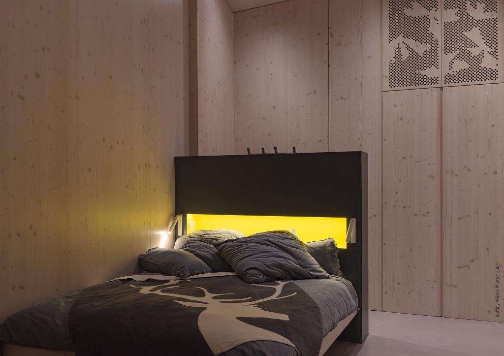 Schlafbereich in der Frühstückspension La Mugletta