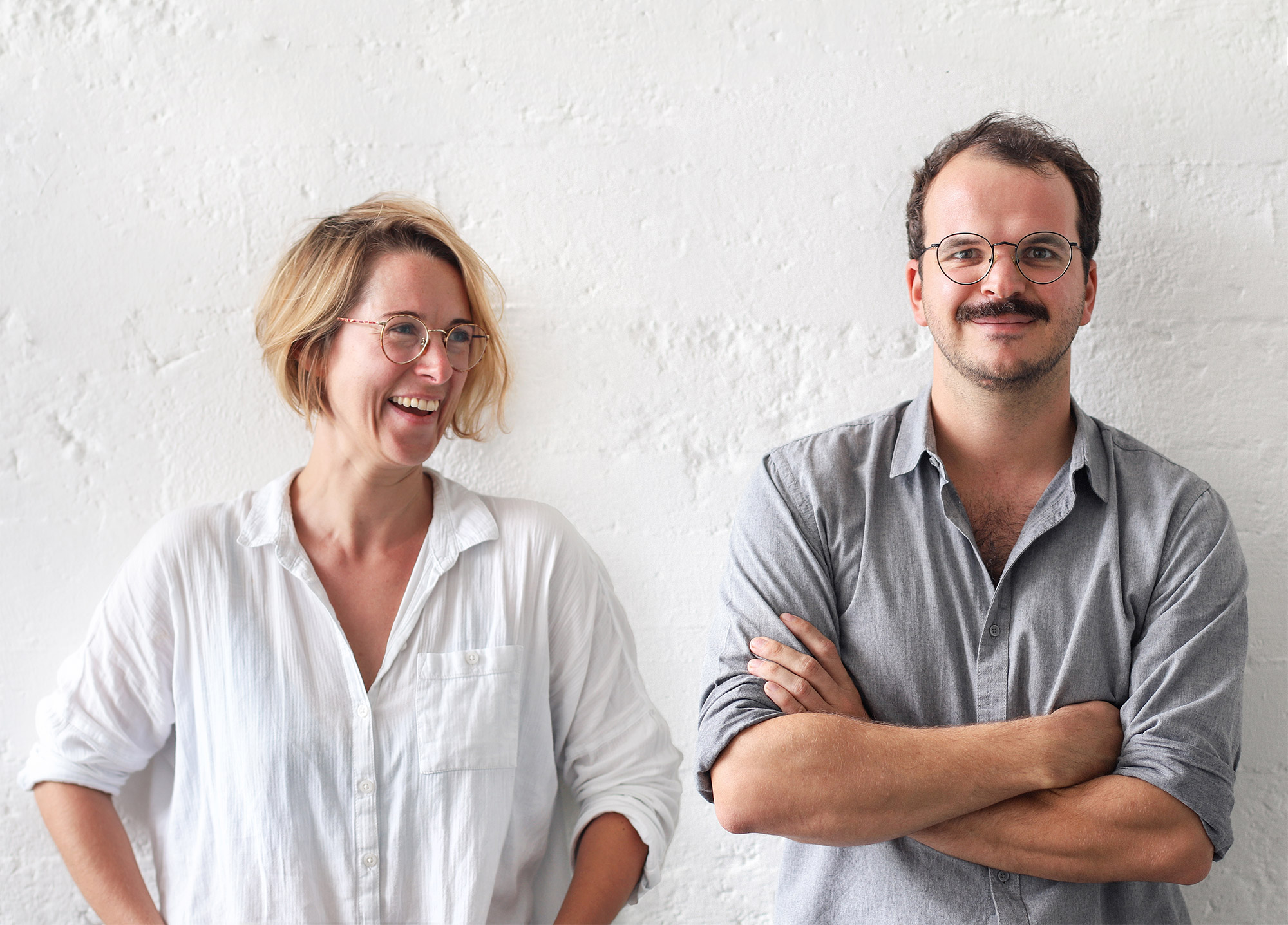 Das Gründerteam von erlich textil: Sarah und Benni