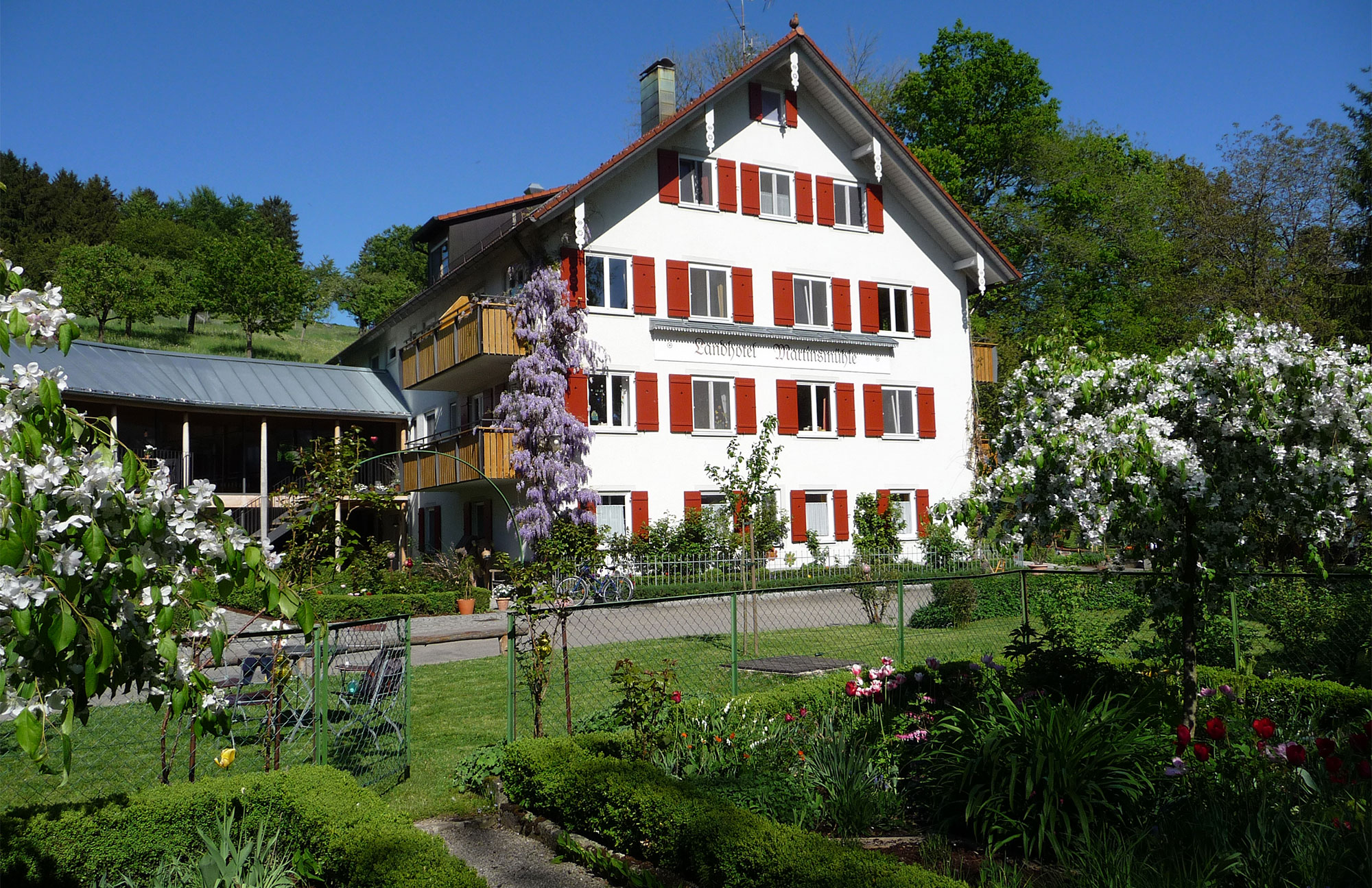 Das Landhotel Martinsmühle von Außen