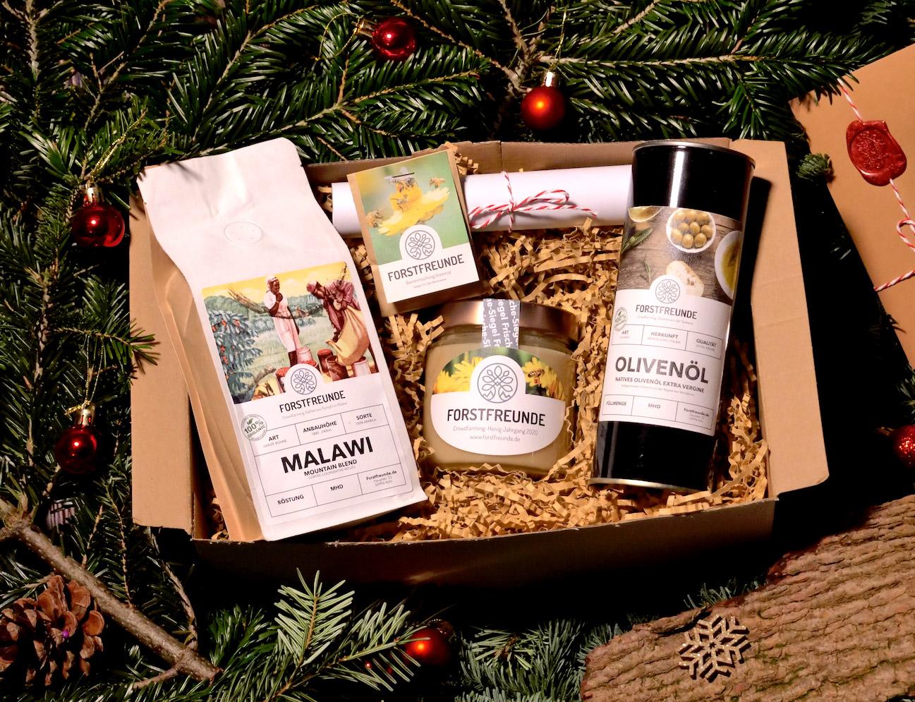 Das Geschenkpaket ist gefüllt mit einem Best-of von den Crowdfarming-Produkten