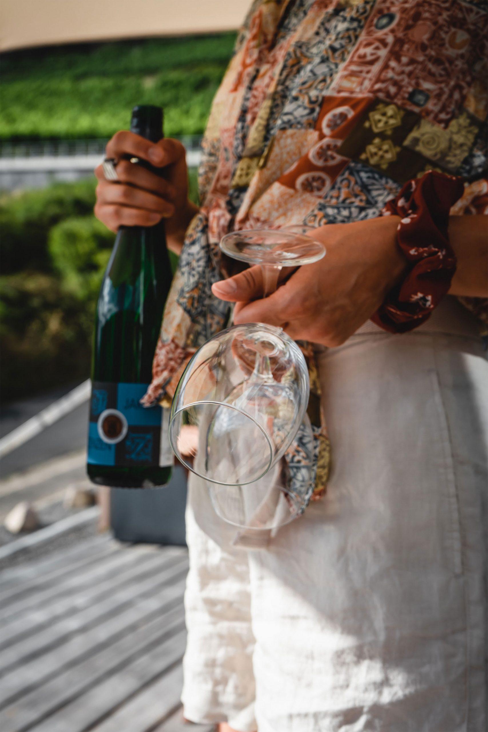 Bei einem guten Glas Wein abschalten