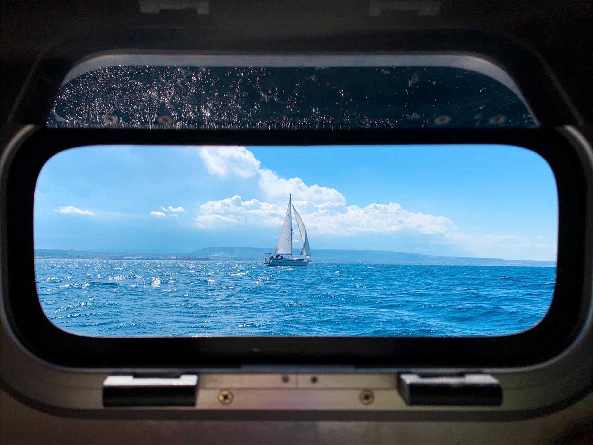 Ausblick vom Segelboot