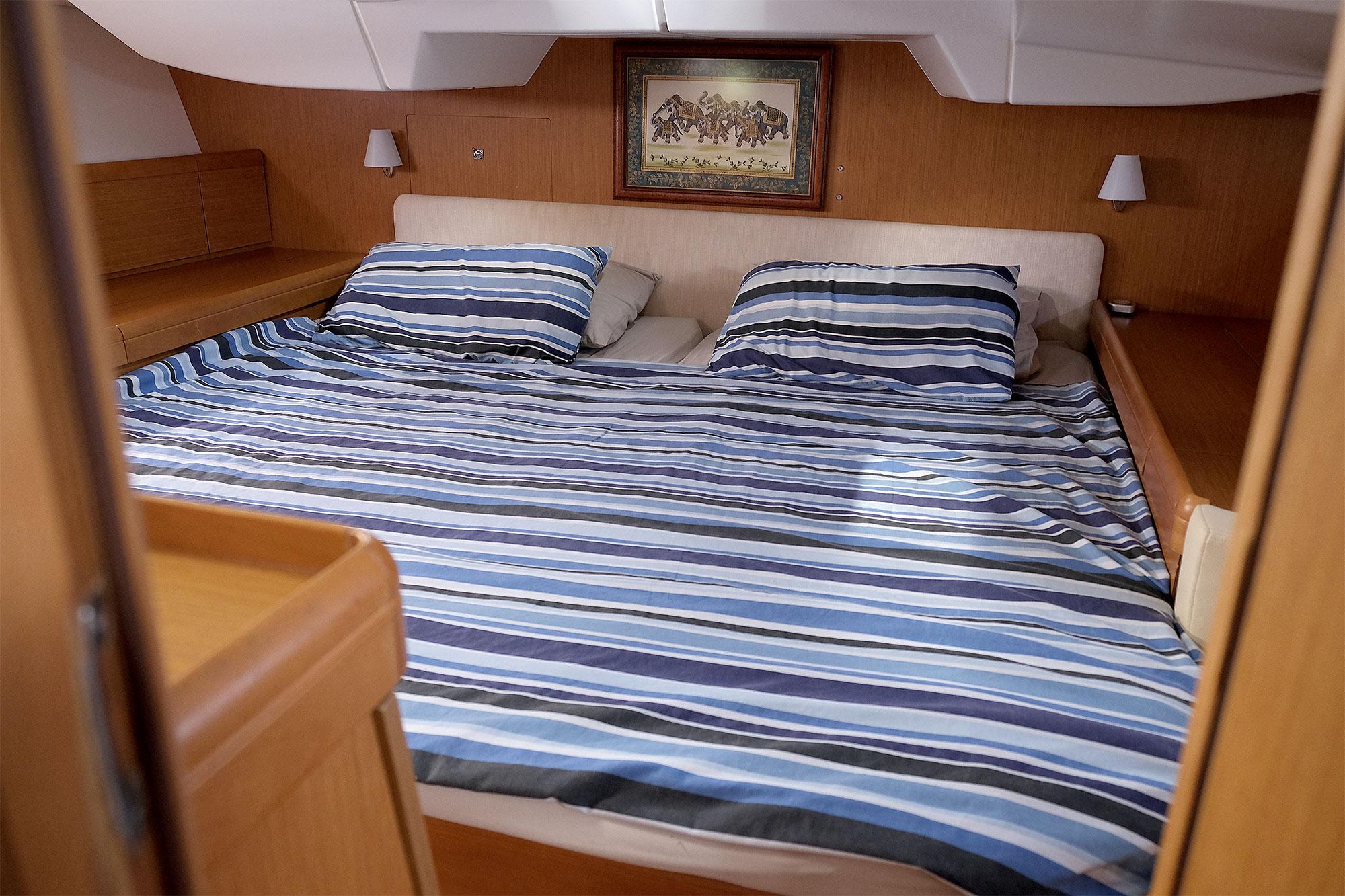 Das Schlafgemach des Segelboots