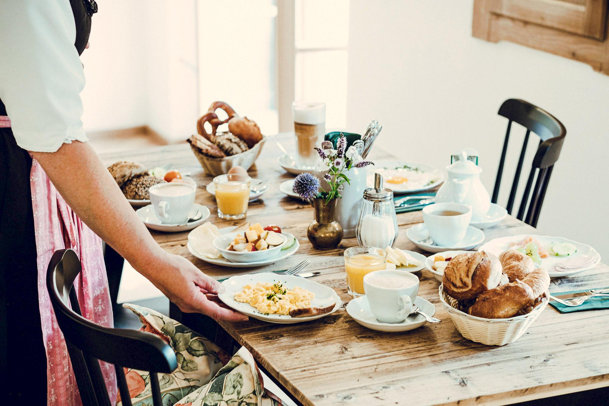 Leckeres Frühstück im Lederer Hof