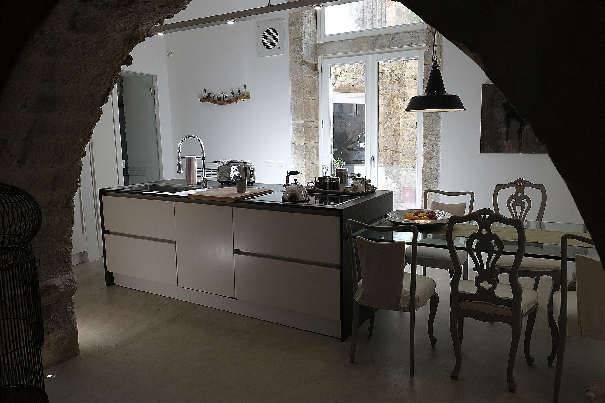 Einblick in die Küche