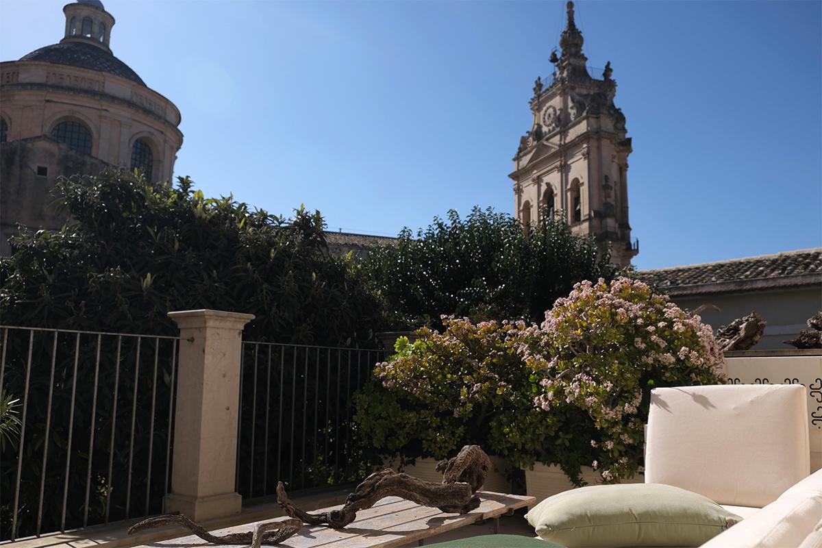 Die Terasse von der Residenza Hortus