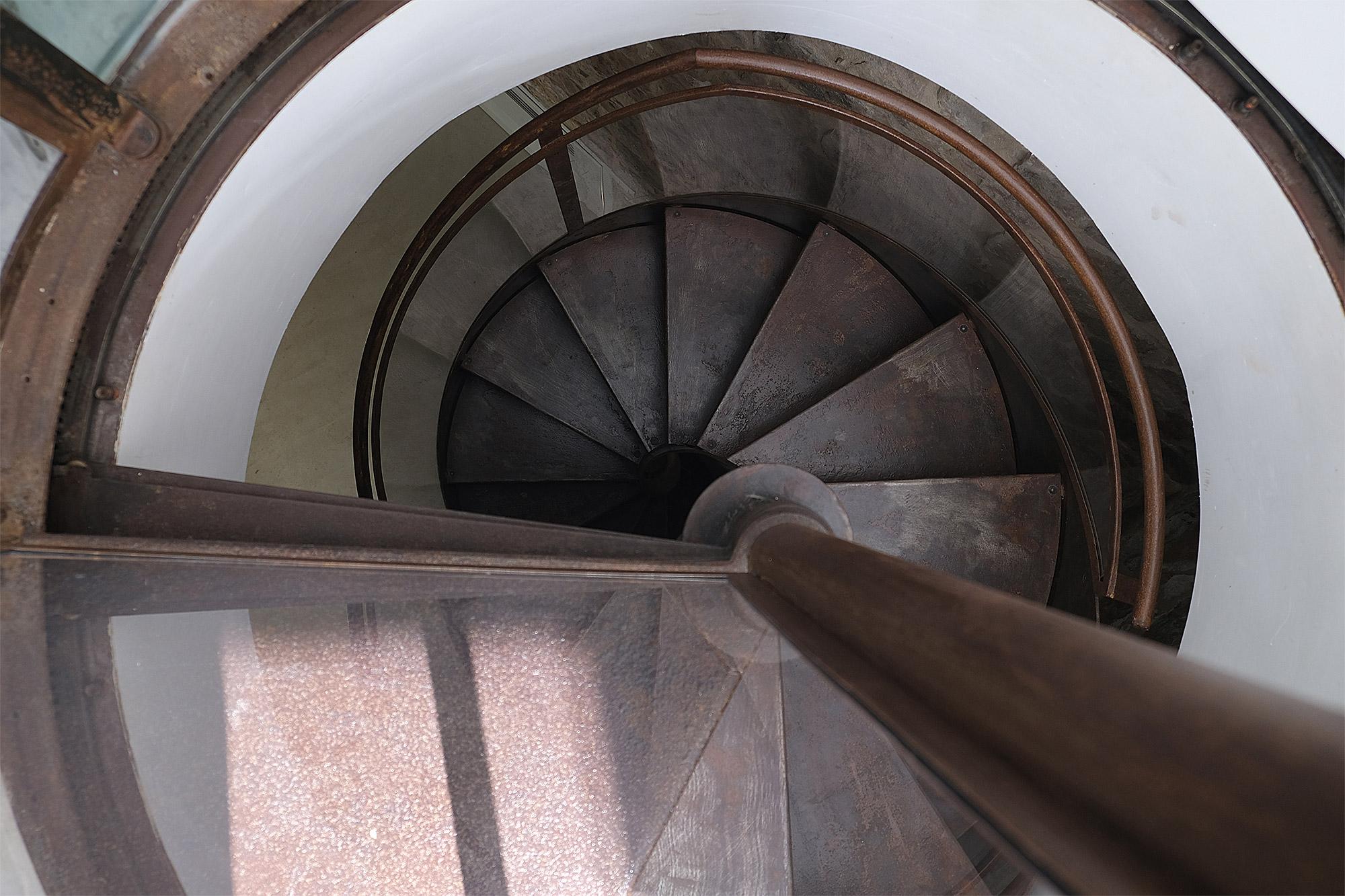 Die Wendeltreppe der Residenza Hortus