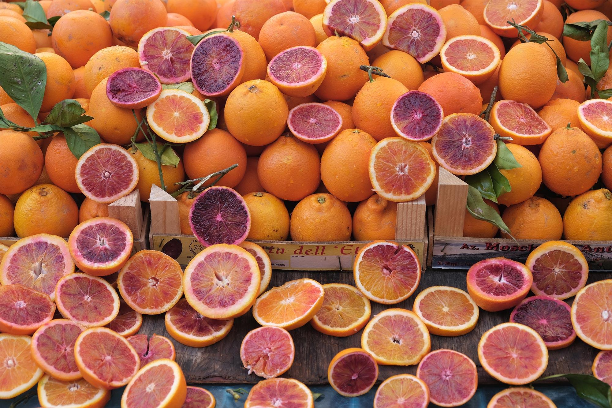Orangen vom Markt in Syrakus