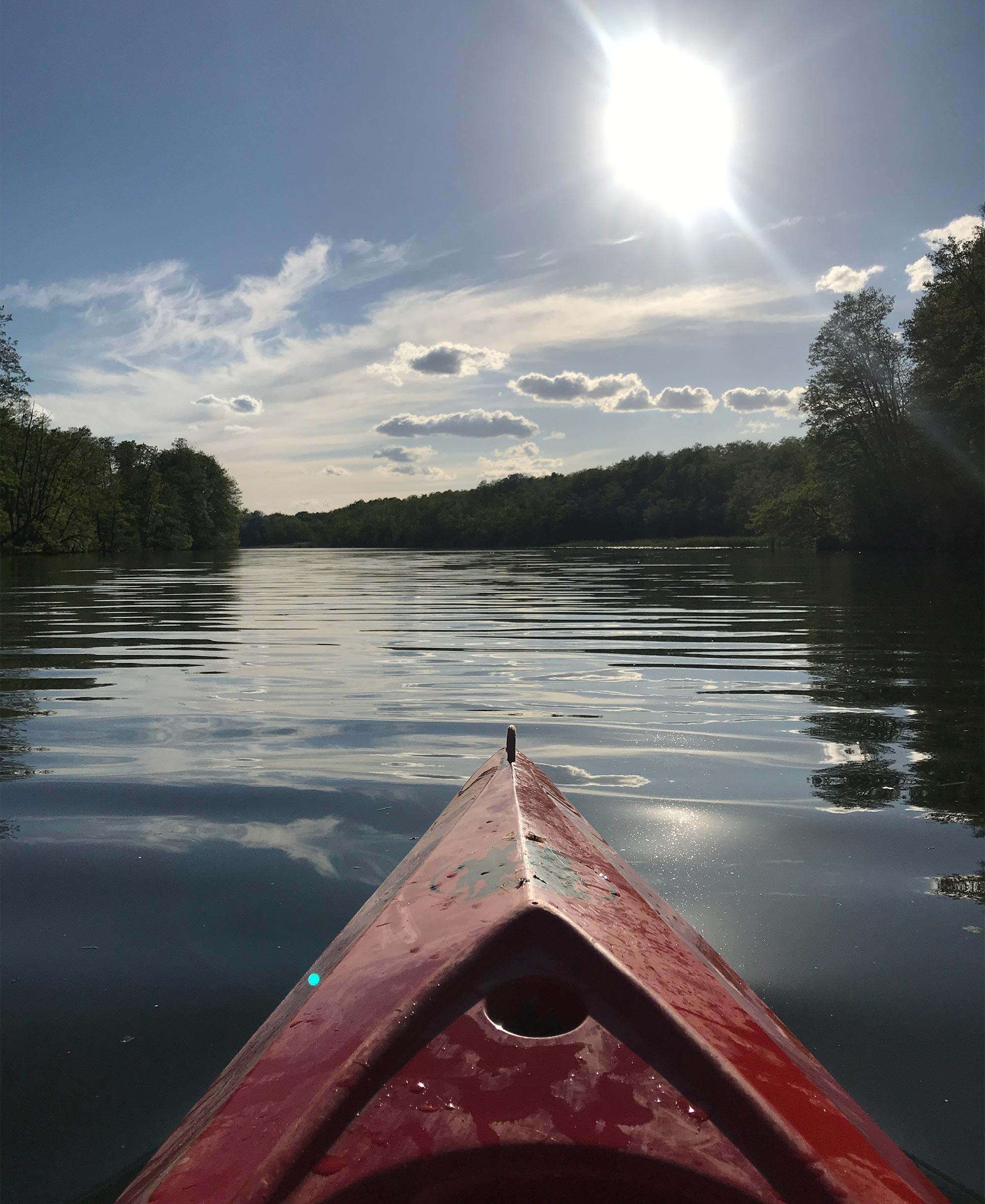 Entspannung auf dem Wasser finden