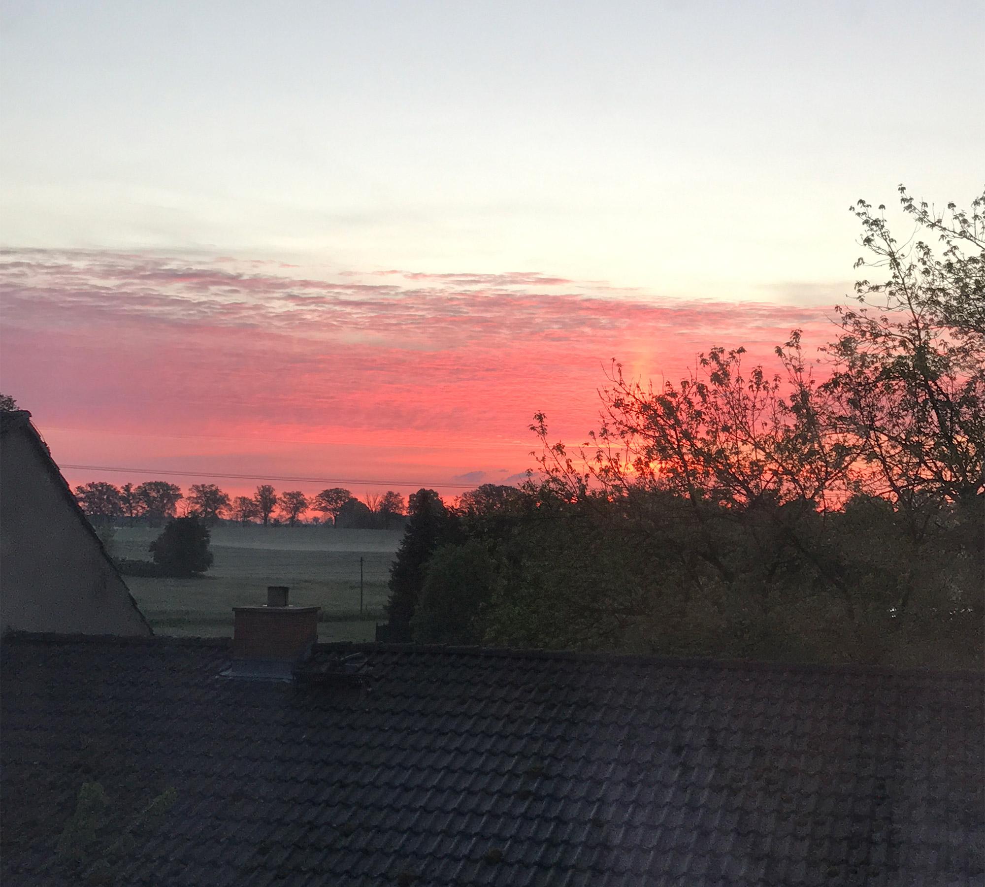 Einen atemberaubenden Sonnenaufgang genießen