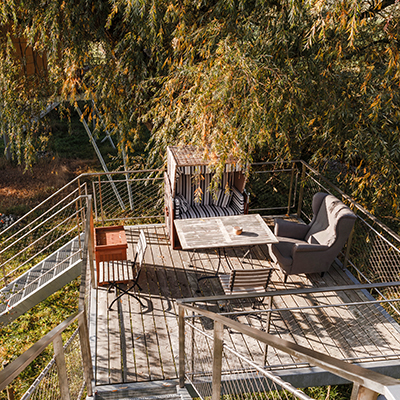 You can relax wonderfully on the terrace