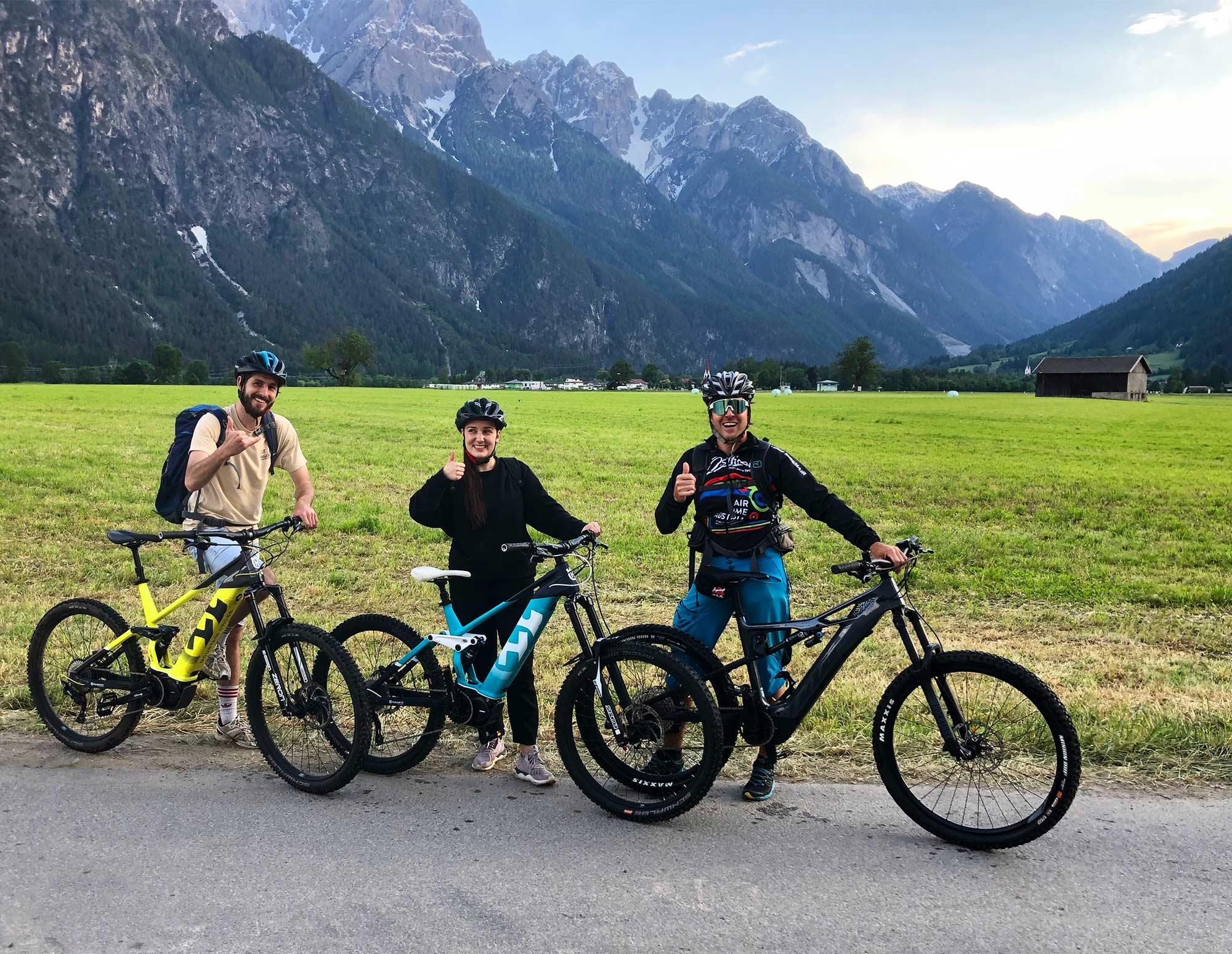 Mit unserem E-Bike Führer Manfred