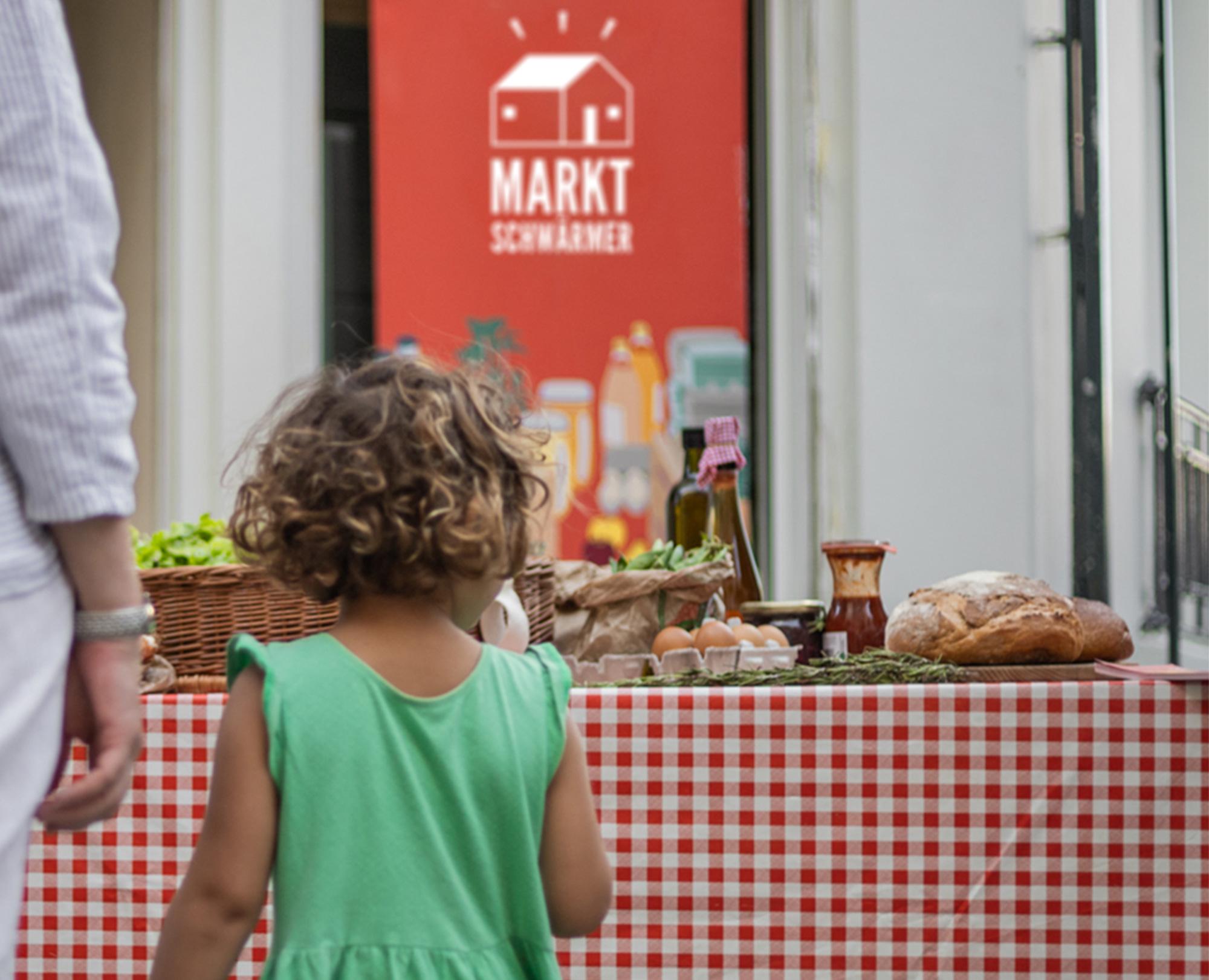 Der Besuch der Marktschwärmer Wochenmärkte ist ein Ereignis für Groß und Klein