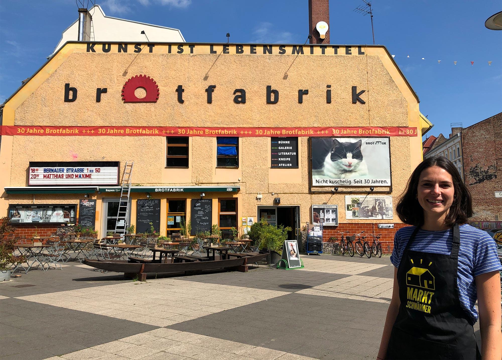 Anna freut sich auf die Eröffnung der Marktschwärmerei in Berlin-Weißensee