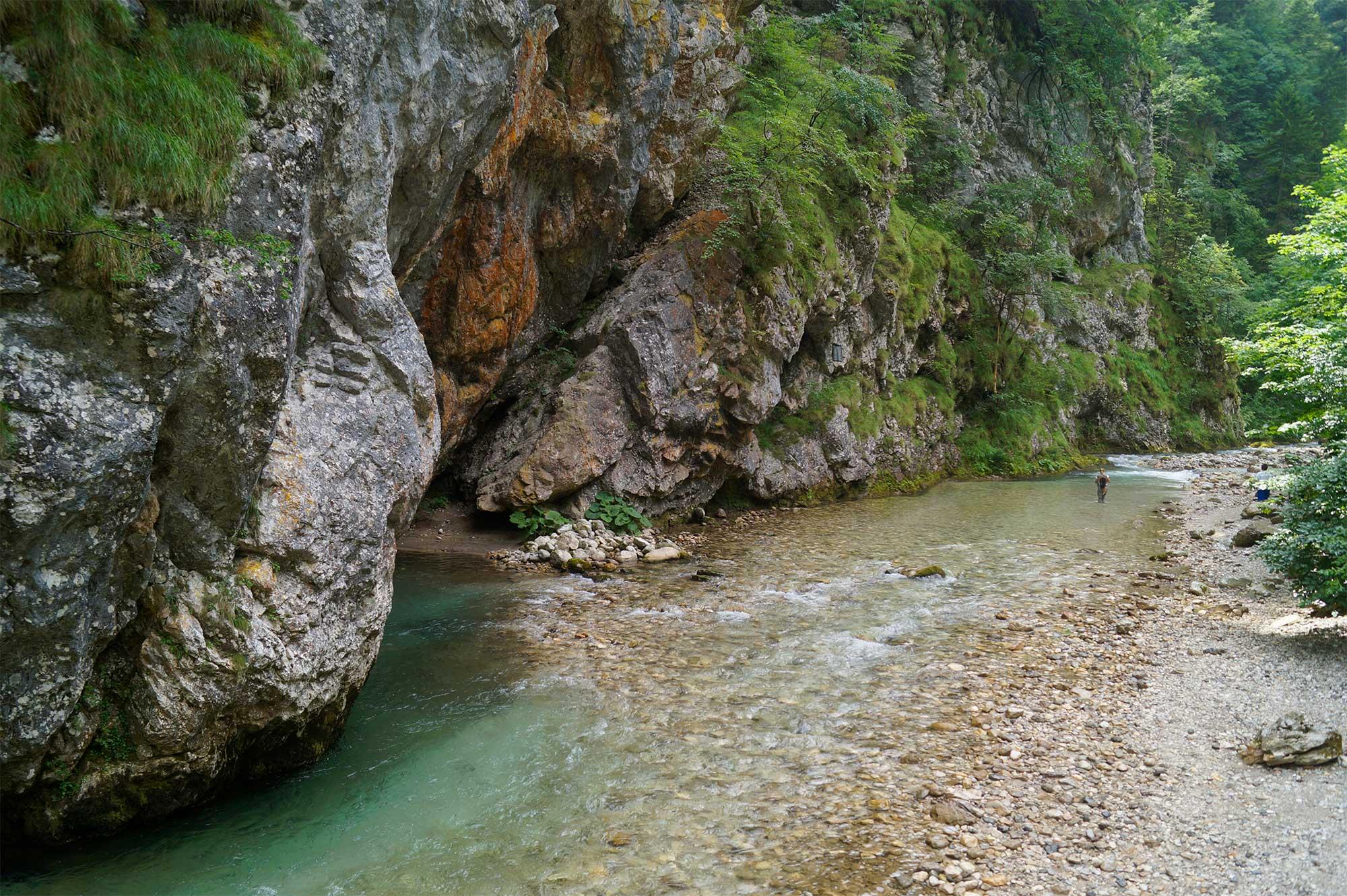 Der Fluss Savinja kurz hinter Luce