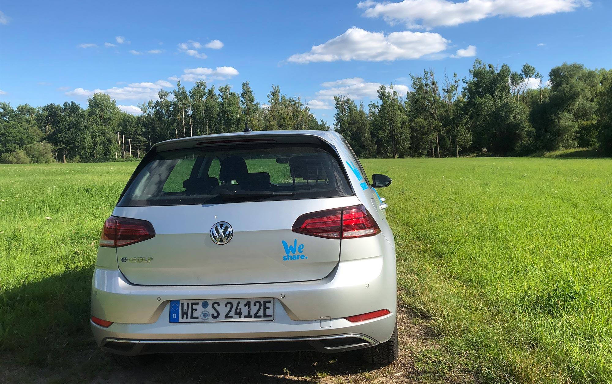 Mit WeShare emissionsfrei zur Workation ins Grüne fahren